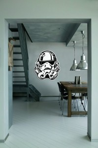 Naklejka  ścienna  Star Wars  Storm Trooper Face - 70-472