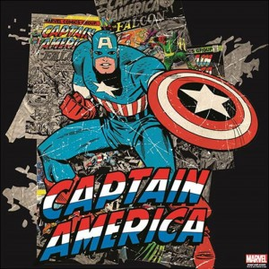 Canvas Marvel Comics Captain America Black 70-443
